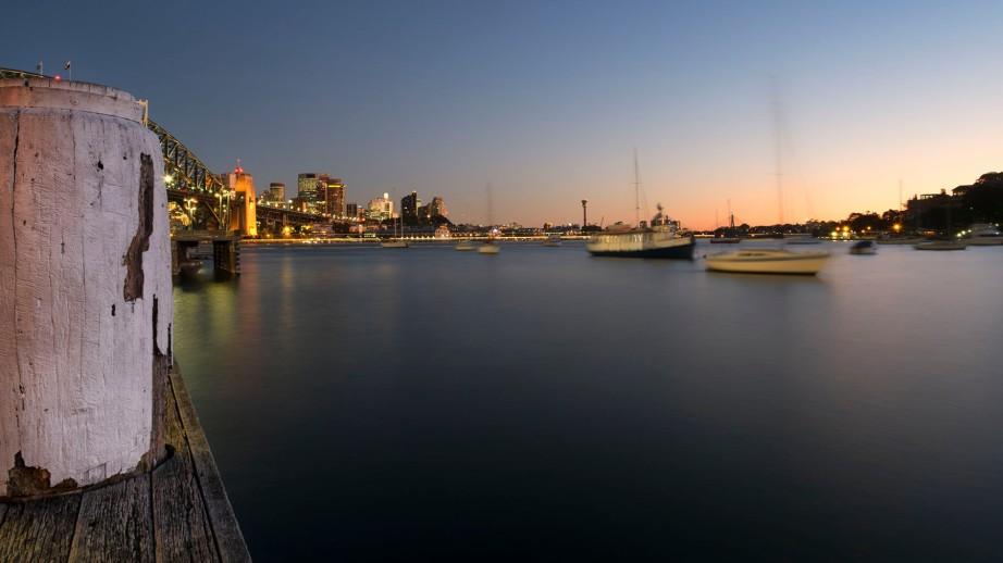 Sydney winter sunset