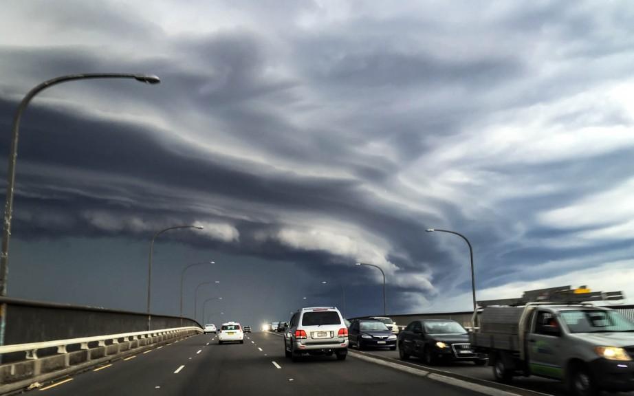 Sydney storm front